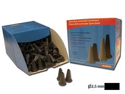 Ear tips - black - 2.5mm - child