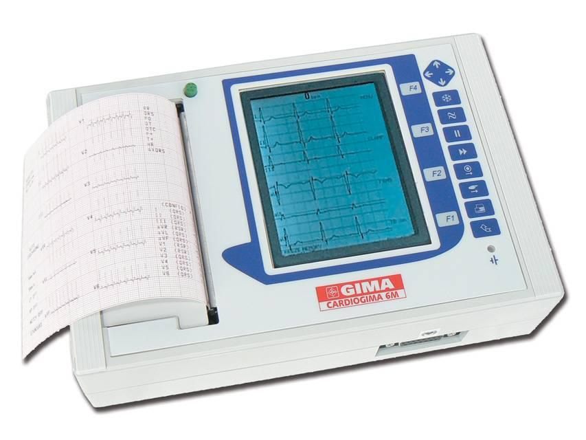 Cardiogima 6M  3/6/12 Kanal mit Interpretation (hochauflösende Monitor-Kanal 3-6, Drucker 3/6/12-Kanal)