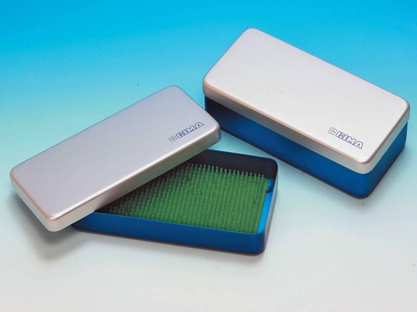 Aluminium instrument case - 21.8 x 10.6 x 3 cm
