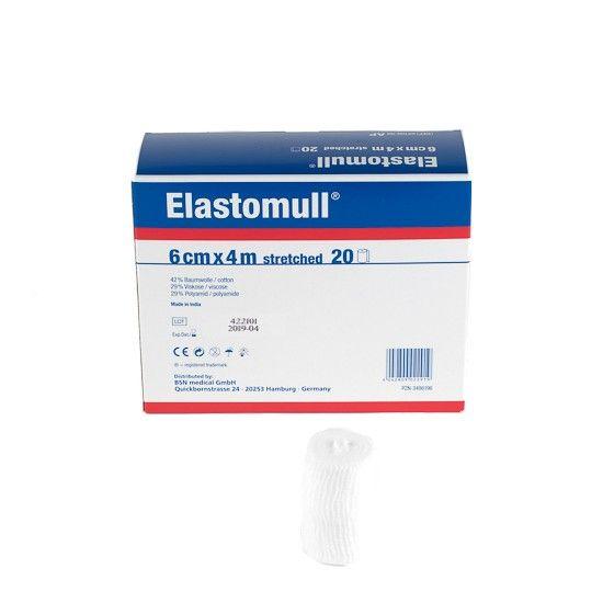 Elastomull Fixierbinde - 4 m x 6 cm, 20 Stück