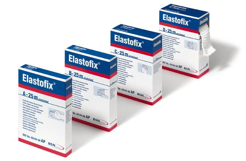 Elastofix stretch bandages, 25 meters - size D