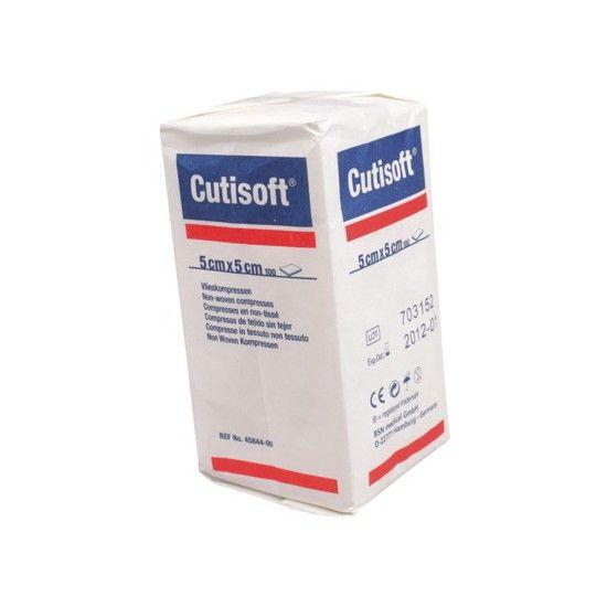 Cutisoft - 5 x 5 cm, 4-lagig, unsteril, 100 Stück