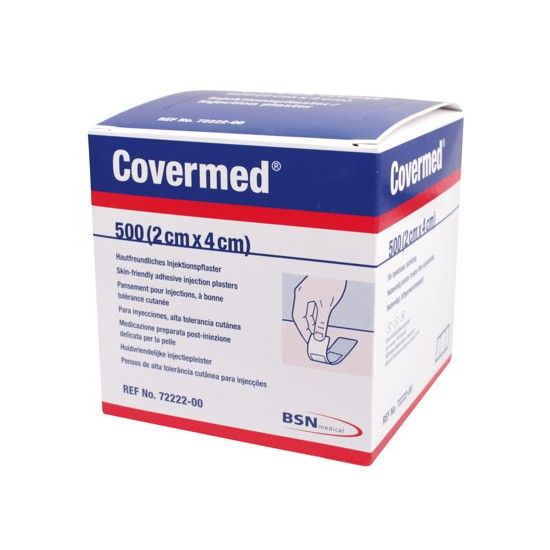 Covermed injection plasters - 2 cm x 4 cm - 500 pieces