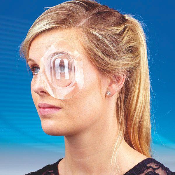 Sterile watch-glass eye bandage