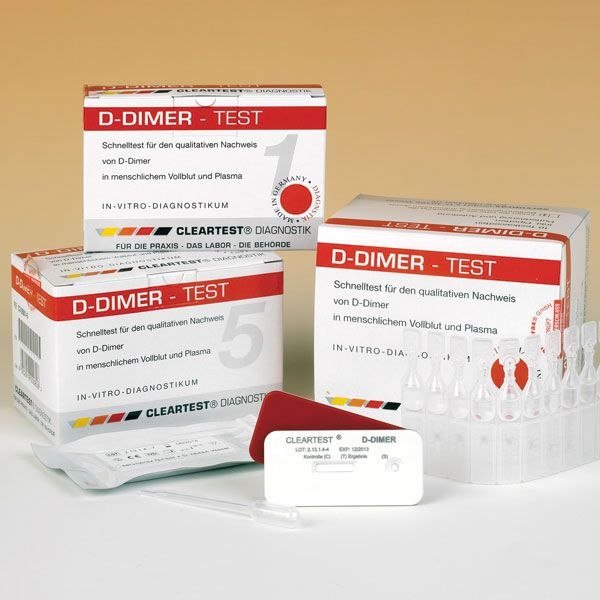Cleartest® D-Dimeer 5 testen