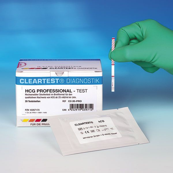 Cleartest® HCG pregnancy tests - 20 pieces