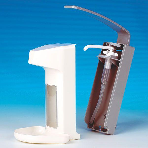 Dispenser voor zeep of desinfectievloeistoffen