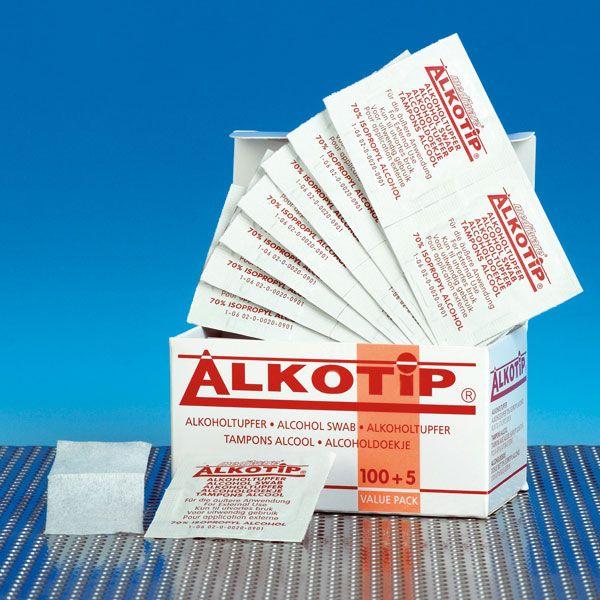 Alkoholtupfer Alkotip®, Karton mit 100 Stück