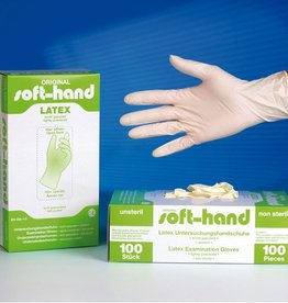 Medische Vakhandel Soft-Hand Latex - licht gepoederd EL - Extra Large 100 Stuks