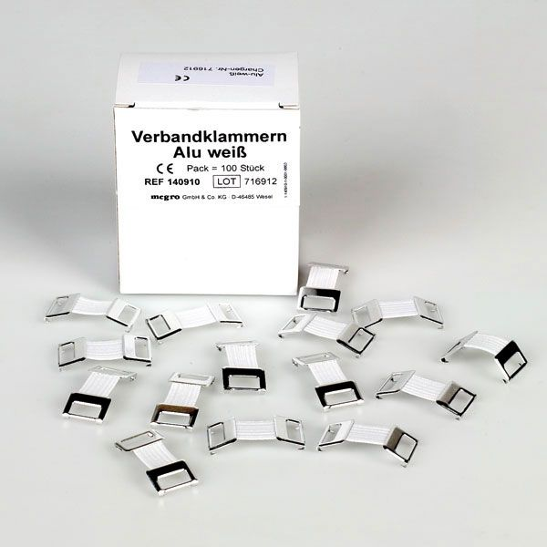 Verbandklemmetjes 100 stuks