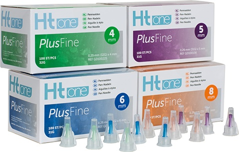HT One Plusfine pen needles 4 mm 32G, 100 pieces