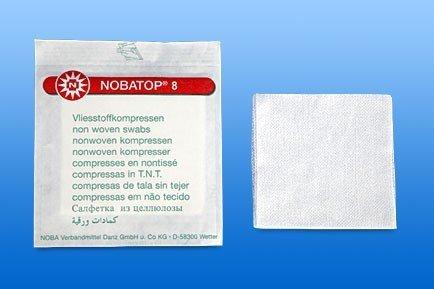Nobatop non woven kompres 8/4 7,5x7,5cm steriel, 60 stuks x 2, 704207