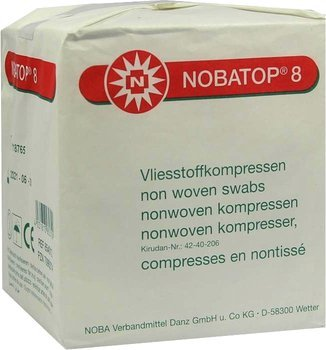 Nobatop non-woven compress 8/4 - 5x5cm - 100 pieces
