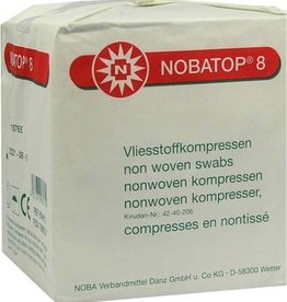 Noba Nobatop Vliesstoffkompressen 8/4, 10 x 10 cm, 100 Stück