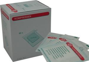 Nobatop Vlieskompressen, steril, 8 lagig, 16/1, 5 x 7,5 cm, 100 Stück