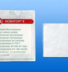 Noba Nobatop Vlieskompressen, steril, 8 lagig, 10 x 10 cm, 50 Stück x 2