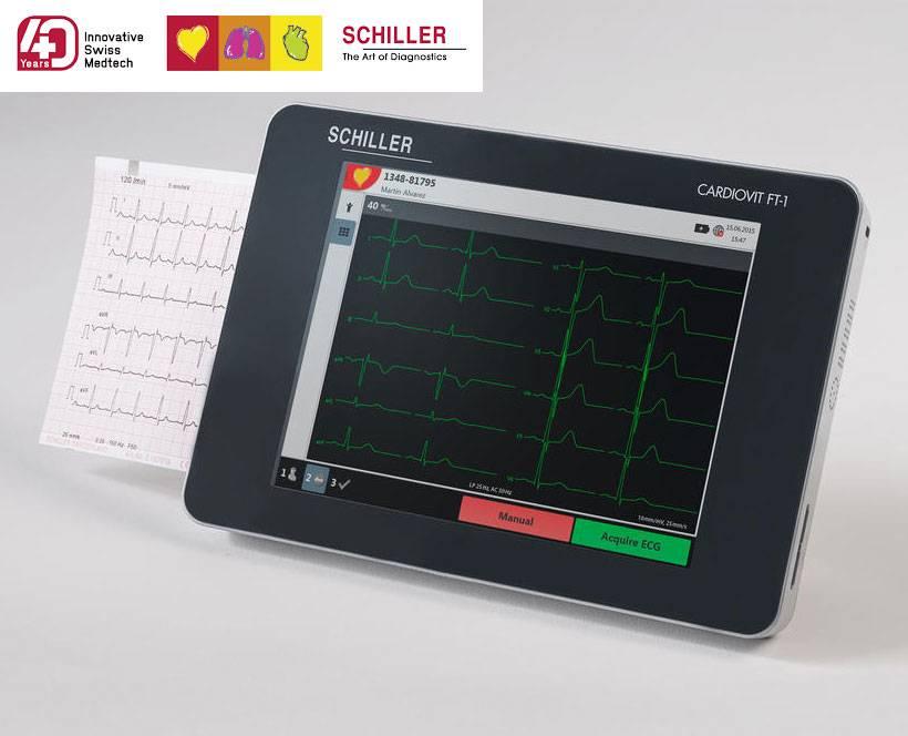 Schiller ECG monitor Cardiovit FT-1 met interpretatie software ETM en CCAA