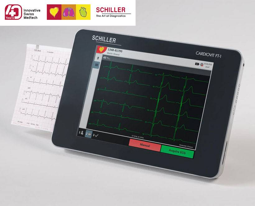 Schiller  ECG monitor Cardiovit FT-1 with interpretation software ETM and CCAA