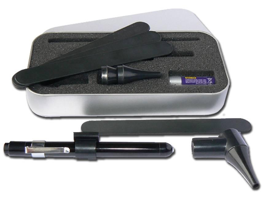 Untersuchungsleuchte LED-Clip für Zungenspatel und Otoskoptrichter und Ohrtrichter