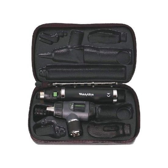 Welch Allyn MacroView LED otoscope with handle and charger