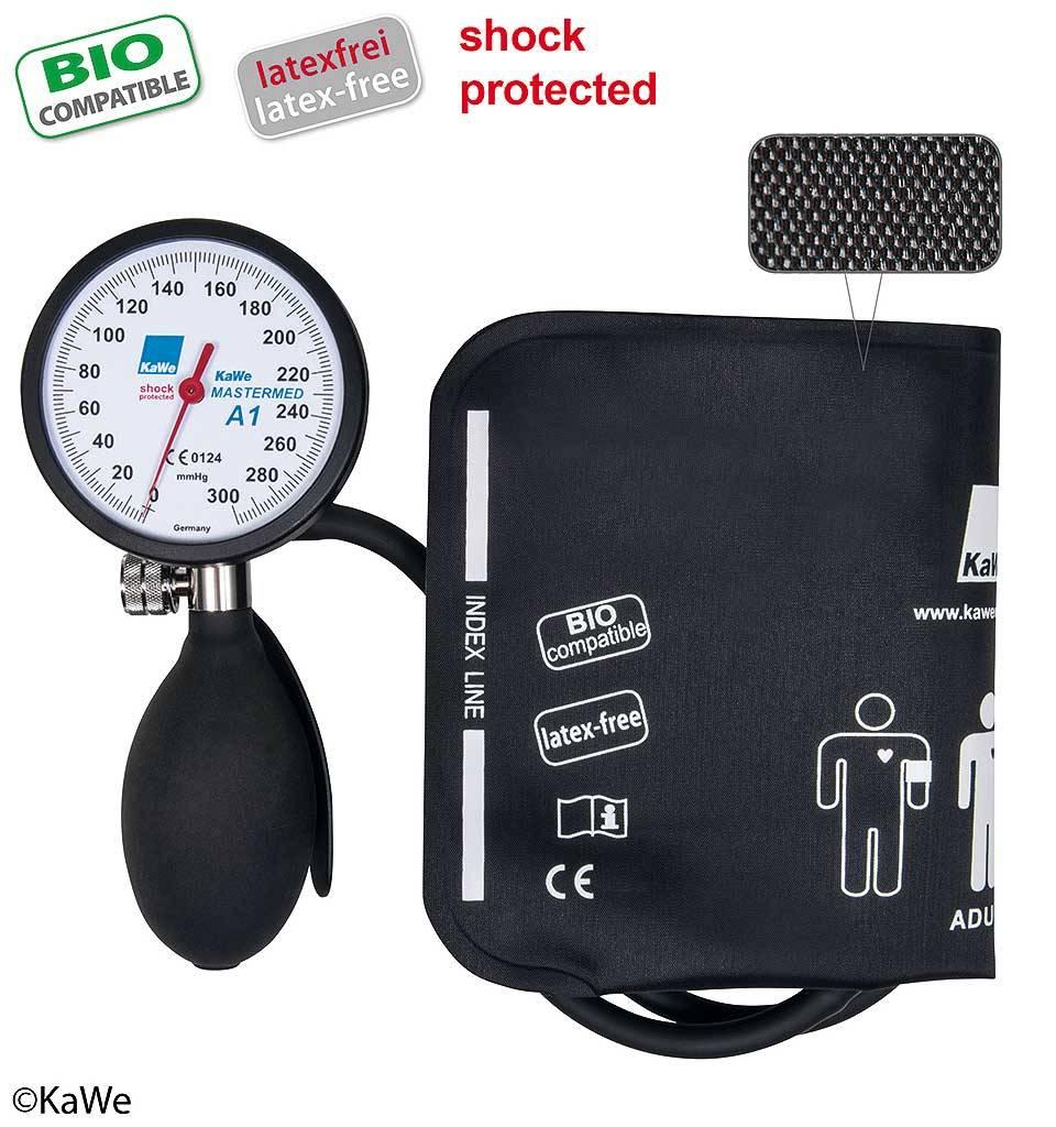 KaWe MASTERMED bloeddrukmeter, shock protected en bio compatible manchet, Kunststofring