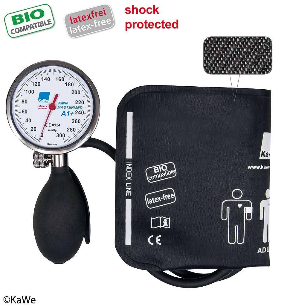 KaWe MASTERMED bloeddrukmeter, shock protected en bio compatible manchet, metaalring
