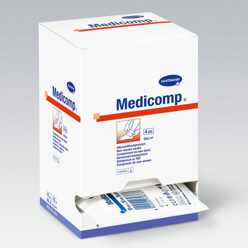 Hartmann Medicomp Vliesstoffkompressen, steril - 7,5 x 7,5 cm, 25 x 2 Stück