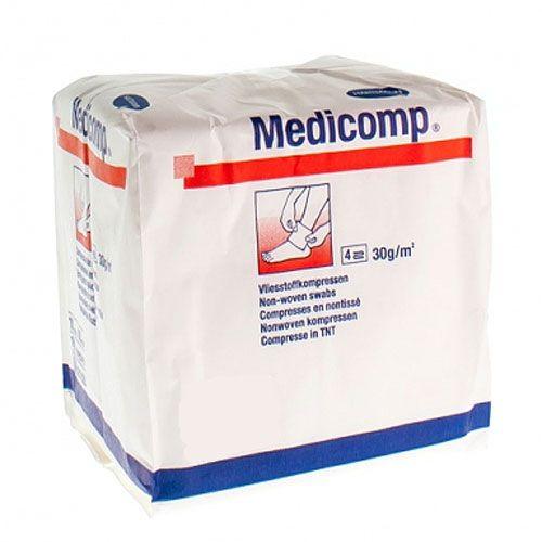 Medicomp® Hartmann niet steriel 7,5 x 7,5 cm 1 zak van 100 stuks