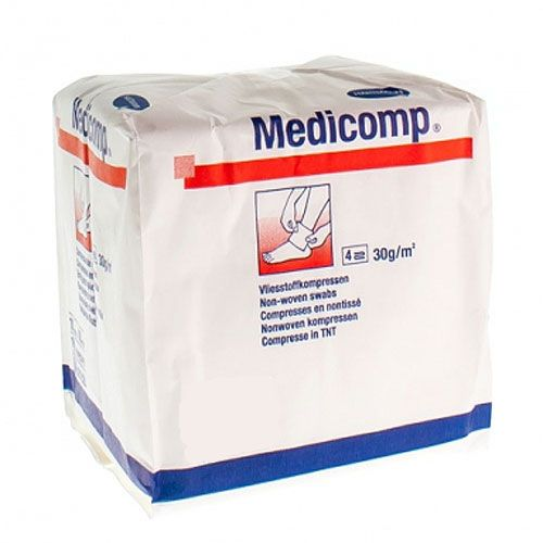 Medicomp® Hartmann niet steriel 10 x 20 cm 1 zak van 100 stuks