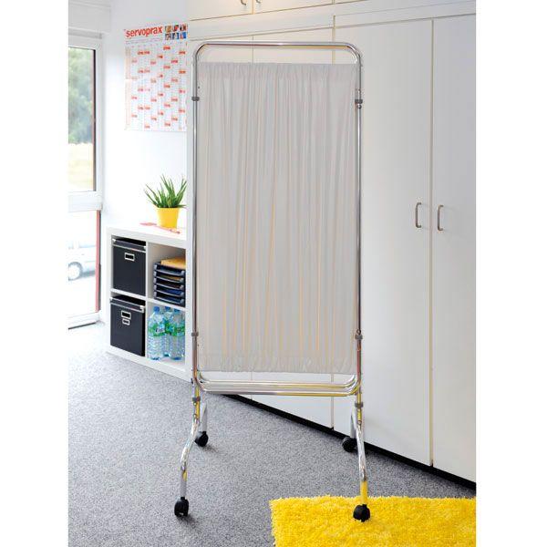 PVC-Vorhang für Paravent, 3-teilig mit Rollen