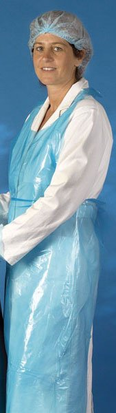 Schorten plastic Mediware 106 cm 100 stuks blauw