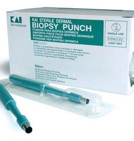 Medische Vakhandel Kai disposable dermal biopsy punch - sterile - 8 mm - 20 pieces