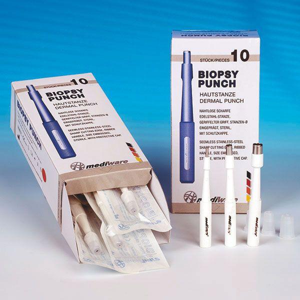 Mediware disposable dermal biopsy punch - sterile - 3 mm - 10 pieces