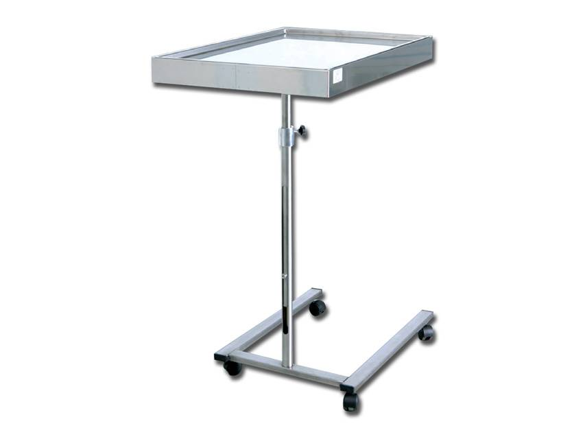 Stainless steel instrument table - Mayo, U-shaped