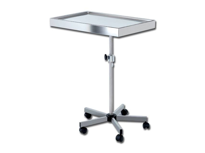 Stainless steel instrument table - Mayo, wheeled version