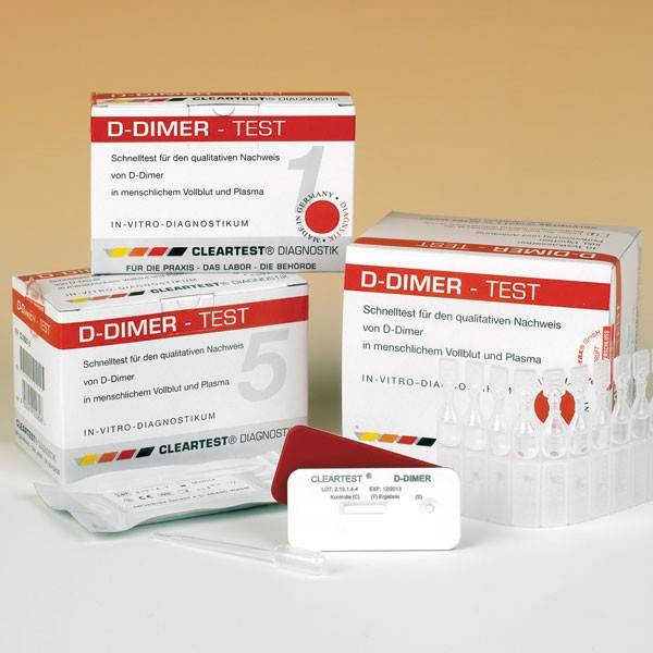 Cleartest® D-Dimeer 1 test