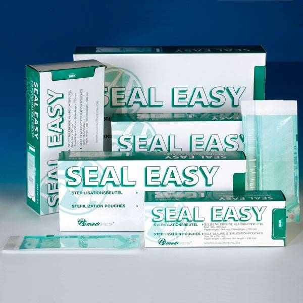 Seal-Easy Autoclav-Selbstklebebeutel, 140 x 250 mm, 200 Stück