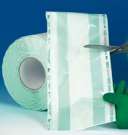 Medische Vakhandel Sterilisatierol met vouw 100 mtr x 7,5 cm