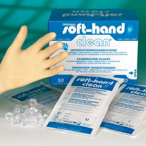 Soft Hand Clean, medium, steril, 50 Stück Paarweise steril verpacktt
