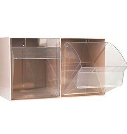 Medische Vakhandel Aufbewahrungsbox für Spritzen und Nadeln, XXL, beige, 2 Fäche