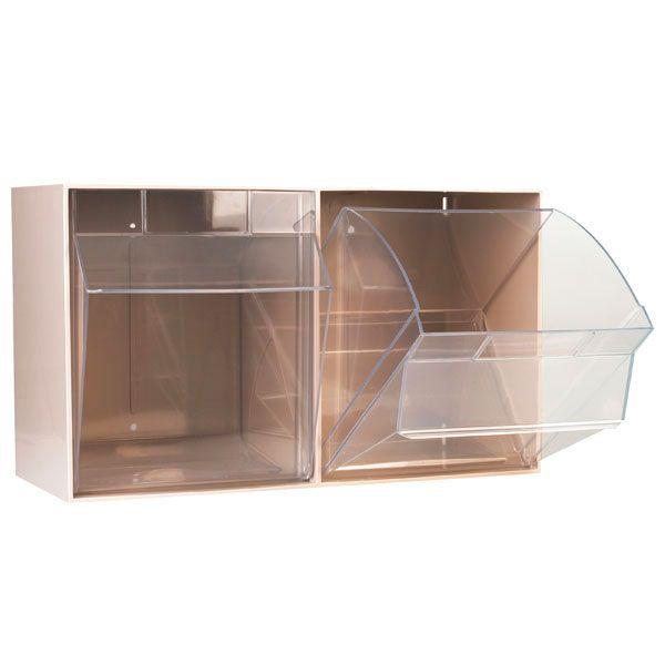 Aufbewahrungsbox für Spritzen und Nadeln, XXL, beige, 2 Fäche
