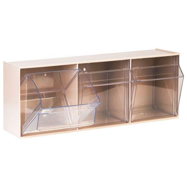 Aufbewahrungsbox für Spritzen und Nadeln, groß, beige, 3 Fäche