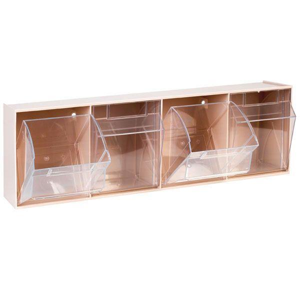 Aufbewahrungsbox für Spritzen und Nadeln, mittel, beige, 4 Fäche