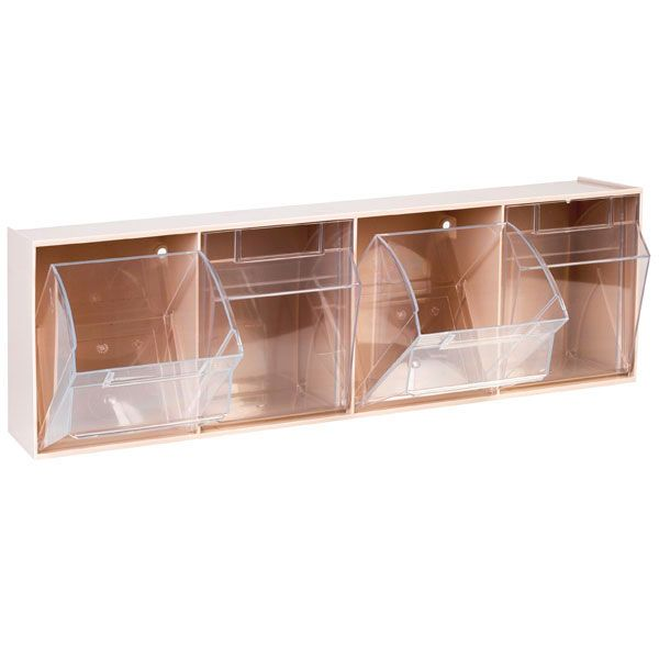 Aufbewahrungsbox für Spritzen und Nadeln, mittel, weiß, 4 Fäche