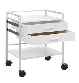 Medische Vakhandel Instrument table with 2 drawers - Grey white