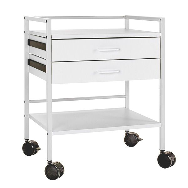 Instrument table with 2 drawers - Chrome