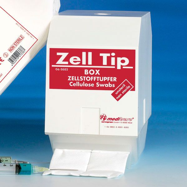 Zelltip swab dispenser