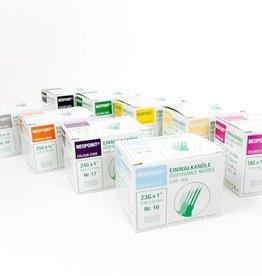 Neopoint Neopoint Einmalkanülen grün - 21G - 0,80 x 50 mm - 100 Stück