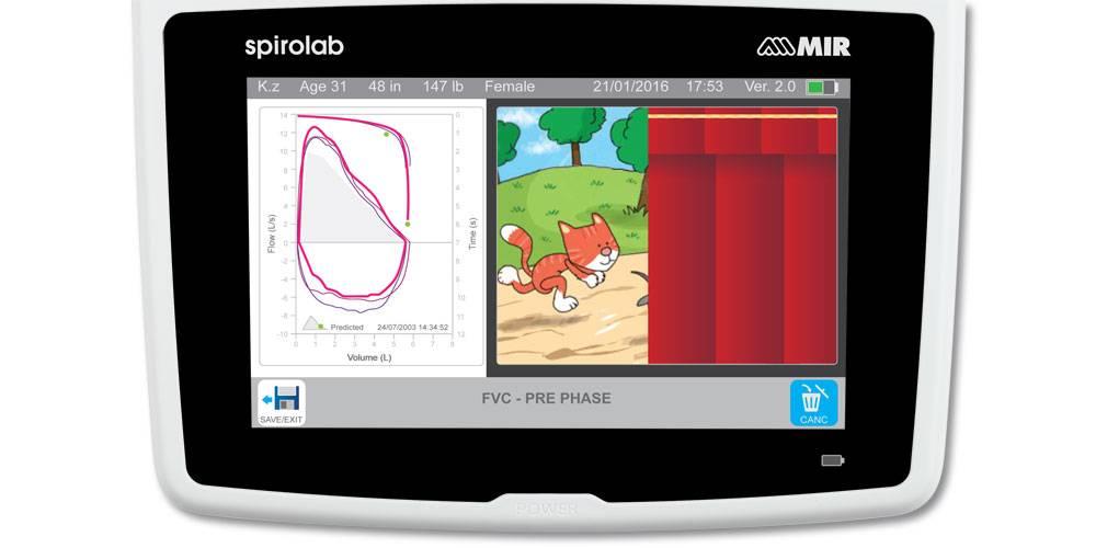 Spirolab Desktop Spirometer mit 7 Zoll Touchscreen und Oximeter