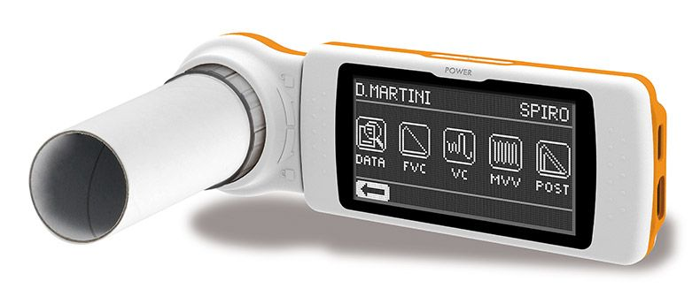 Spirodoc Spirometer with oximeter + walk test O2 + 24 Hour O2 and pulse + Sleep Analysis with OSA (sleep apnea)